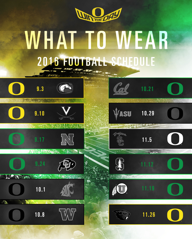 2018 color schedule oregon ducks | my blog