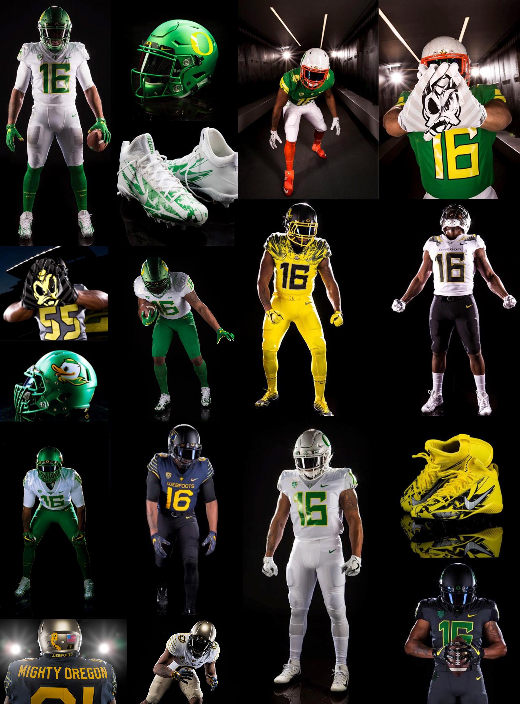 Oregon Ducks Football Uniforms 2013